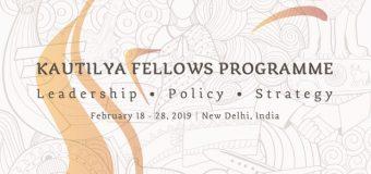 India Foundation Kautilya Fellows Program 2019 (Scholarship available)