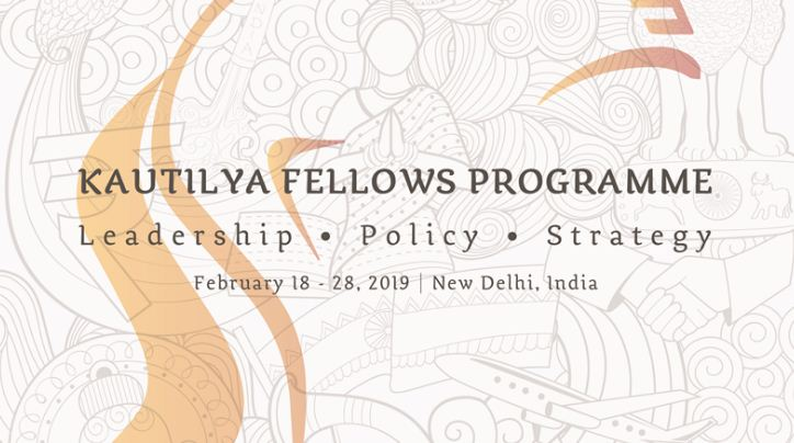 India Foundation Kautilya Fellows Program 2019 (Scholarship available)
