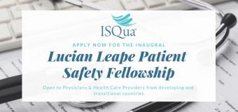 ISQua Lucian Leape Patient Safety Fellowship Program 2019
