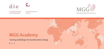 Managing Global Governance Academy 2019 in Bonn, Germany (Scholarship available)