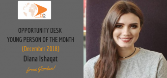 Diana Ishaqat from Jordan is OD Young Person of the Month for December 2018!