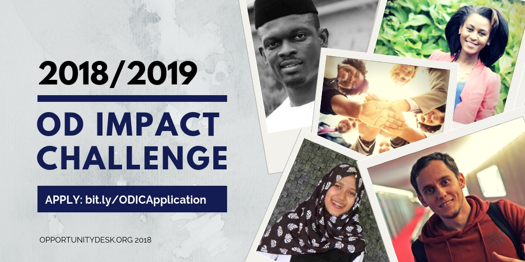 Apply for Opportunity Desk – OD Impact Challenge 2018/2019 (Win Cash Prizes and More)