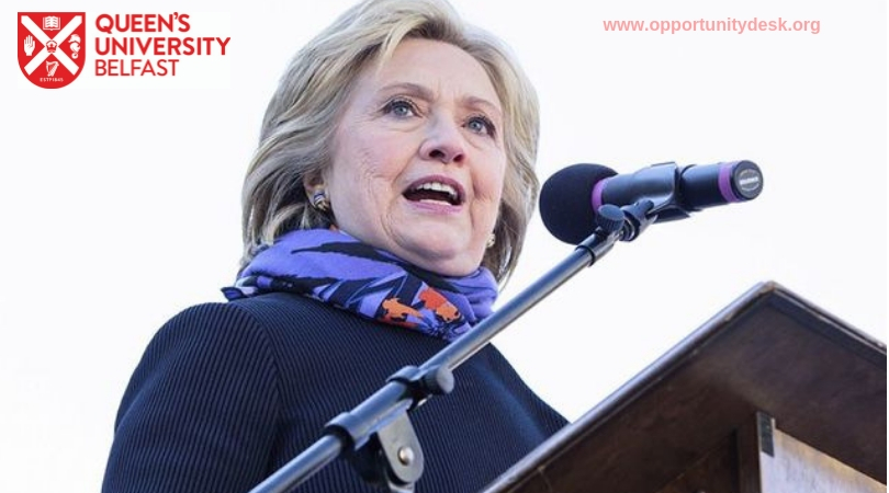 Queen's University Belfast Hillary Rodham Clinton Award for Peace and Reconciliation 2019-2020