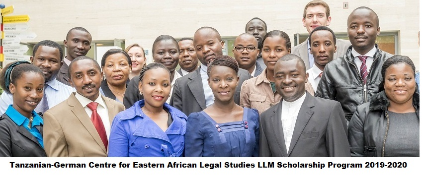 Tanzanian-German Centre for Eastern African Legal Studies LLM Scholarship Program 2019-2020