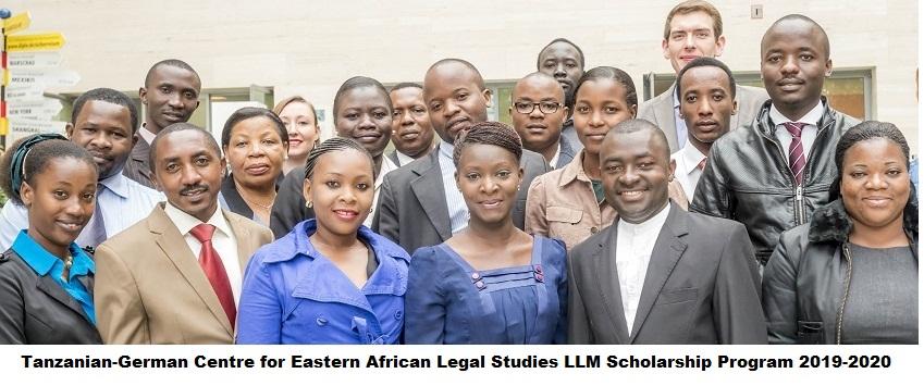 Tanzanian-German Centre for Eastern African Legal Studies LLM Scholarship Program 2019-2020