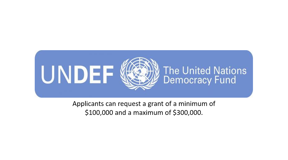 United Nations Democracy Fund (UNDEF) Funding Program for CSOs 2019