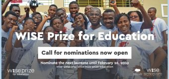 WISE Prize for Education 2019 for Outstanding Education Leaders (Fully-funded to Doha, Qatar + US $500,000)