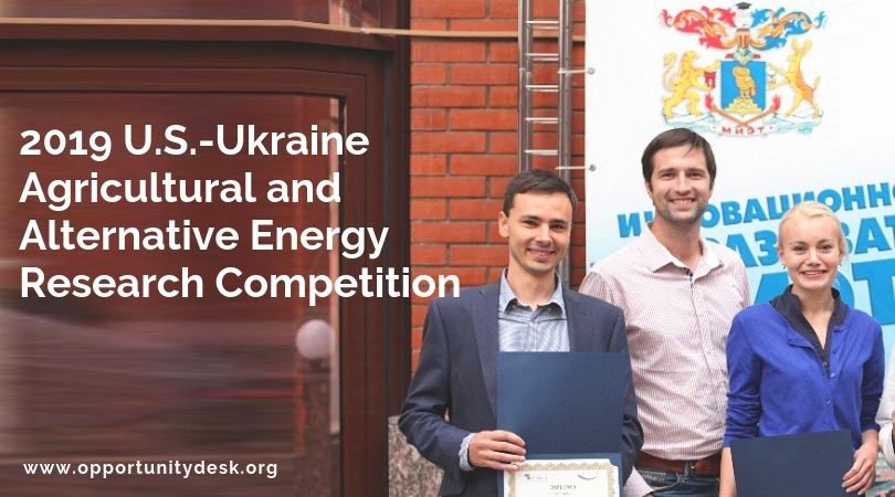 U.S.-Ukraine Agricultural and Alternative Energy Research Competition 2019