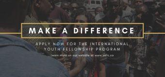 Aga Khan Foundation Canada's International Youth Fellowship Program 2019