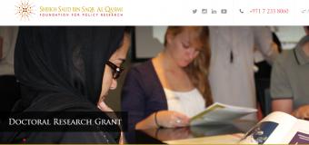 Al Qasimi Foundation's Doctoral Research Grants 2019