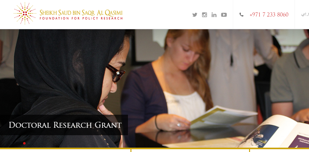 Al Qasimi Foundation's Doctoral Research Grants 2019
