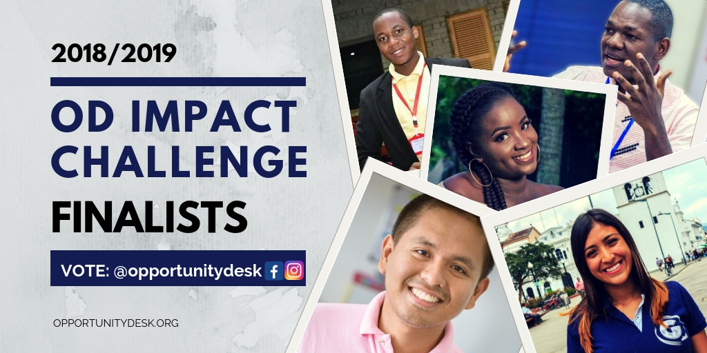 Opportunity Desk's OD Impact Challenge 2018/2019 Finalists Announced