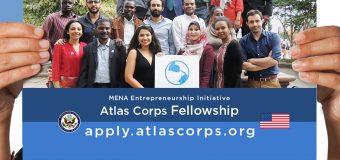 Atlas Corps Fellowship: MENA Entrepreneurship Initiative 2020 (Fully-funded to the US)