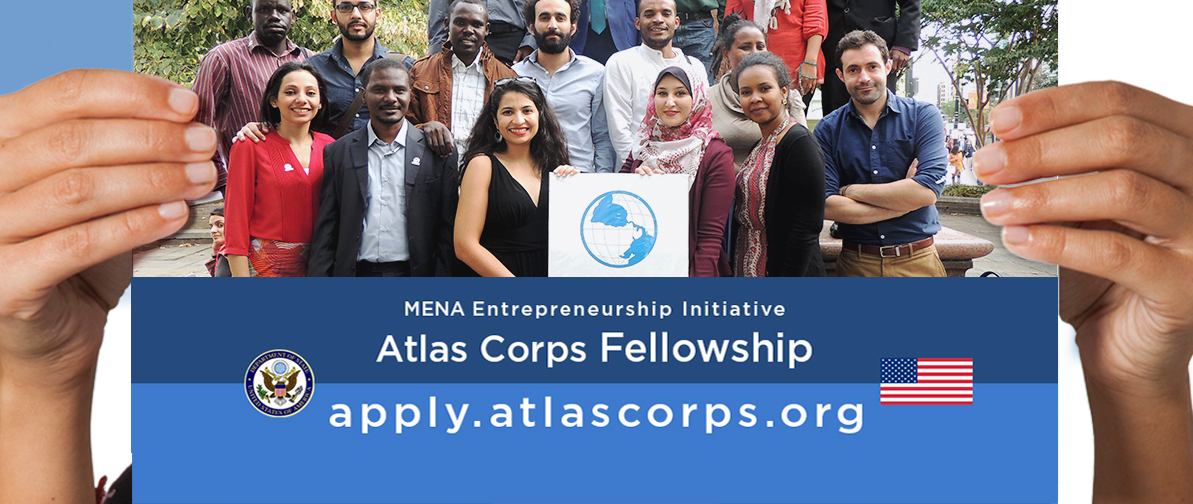 Atlas Corps Fellowship: MENA Entrepreneurship Initiative 2020 (Fully-funded to the US)