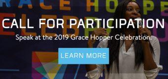 Apply to Speak at Grace Hopper Celebration (GHC) 2019 in Orlando, FL, United States