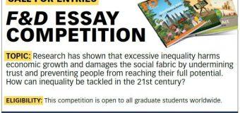 International Monetary Fund Finance & Development Essay Competition 2019