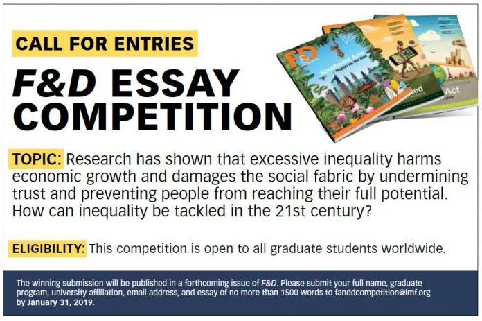 International Monetary Fund Finance & Development Essay Competition 2019