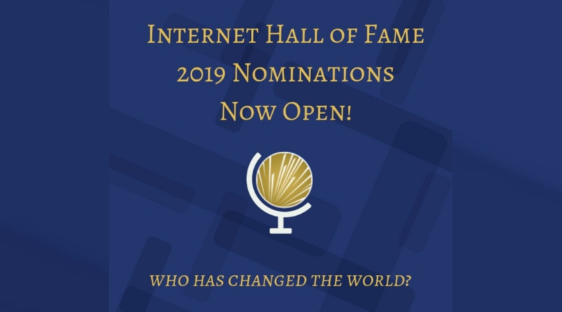 Nominations Open for Internet Hall of Fame 2019
