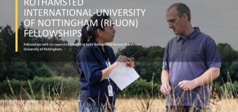 Rothamsted International – University of Nottingham Fellowship 2019 (Fully-funded to the UK)