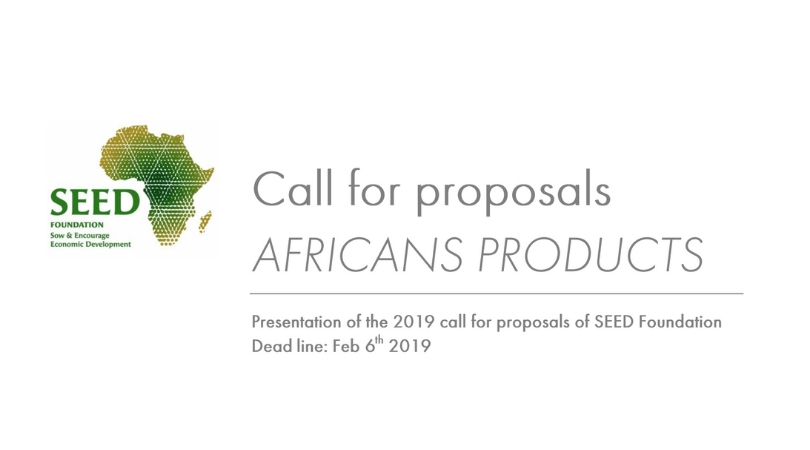 SEED Foundation Call for Projects 2019: Promoting Local Resources of the African Soils (Up to €15,000 Grant)