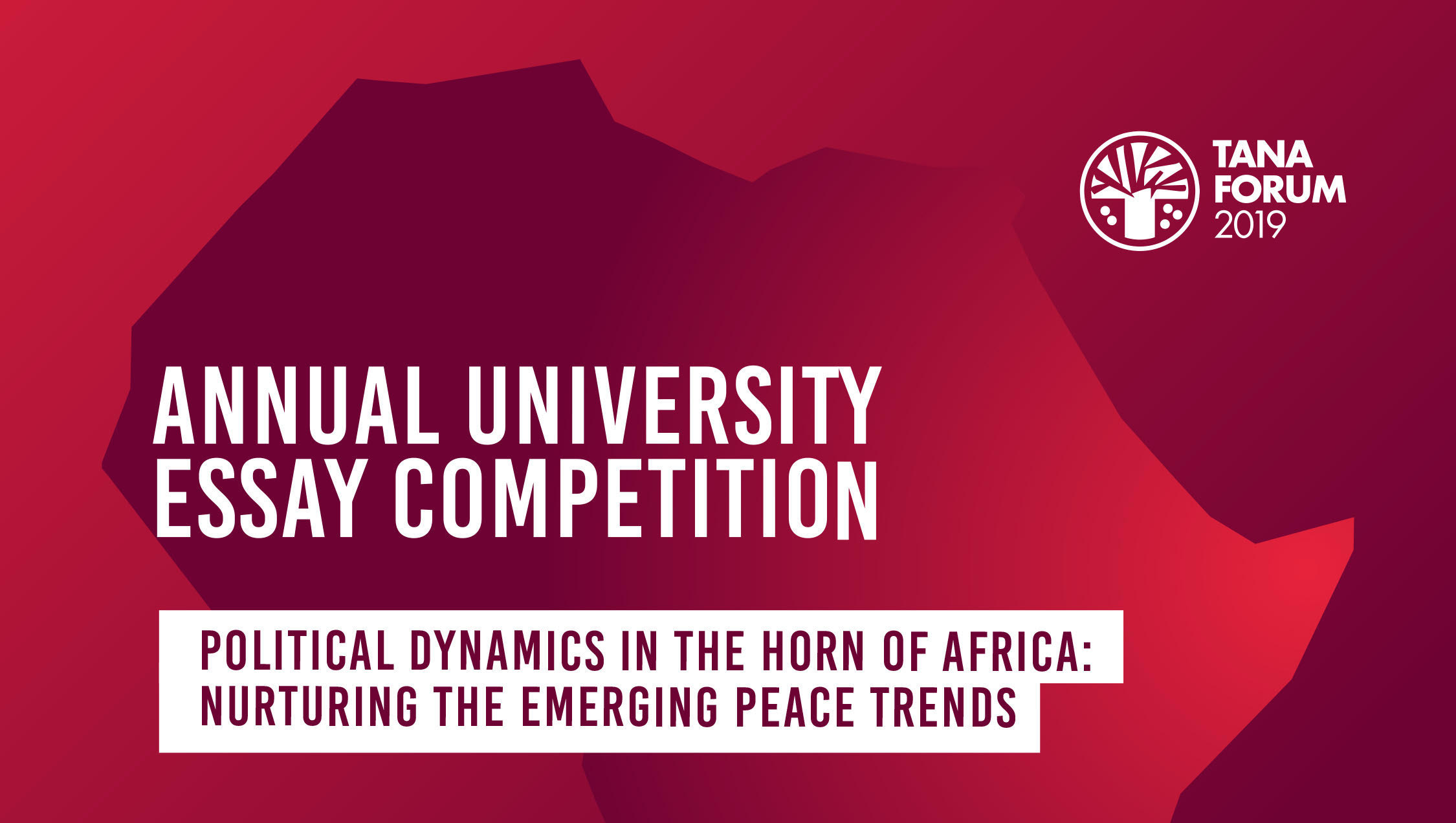 Tana Forum Annual University Essay Competition 2019 for Africans (Fully-funded trip to the Forum in Ethiopia)