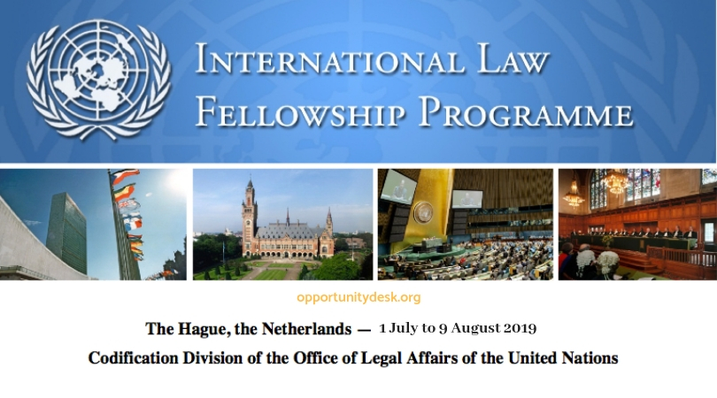 United Nations International Law Fellowship 2019 at The Hague, the Netherlands (Fully-funded)