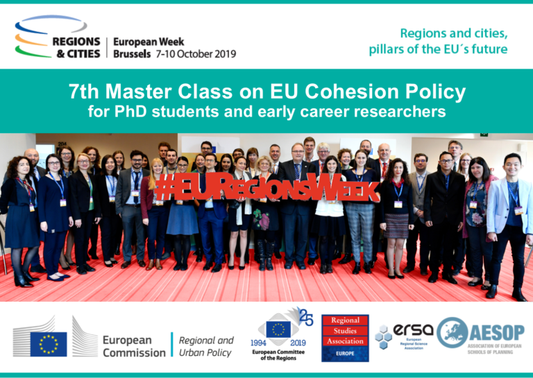 7th Master Class on EU Cohesion Policy for PhD Students and Early Career Researchers 2019
