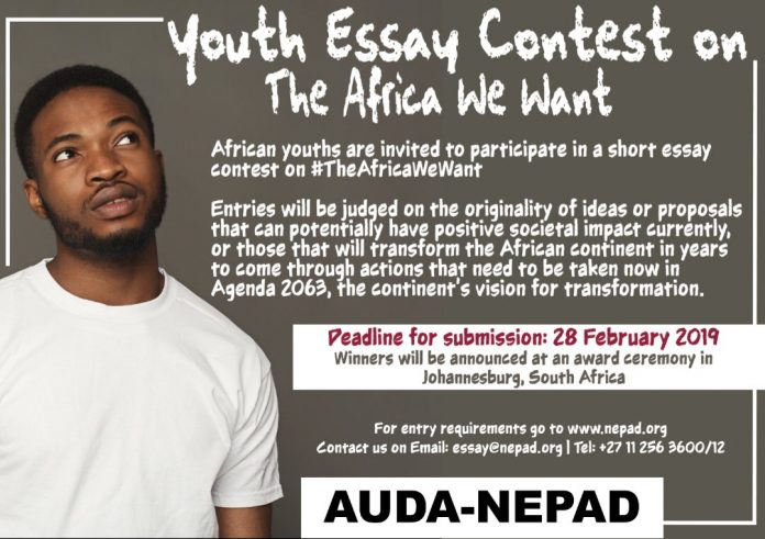 AUDA/NEPAD Youth Essay Contest 2019 on 'The Africa We Want'