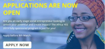 Africa Young Entrepreneur Support (YES) Program 2019