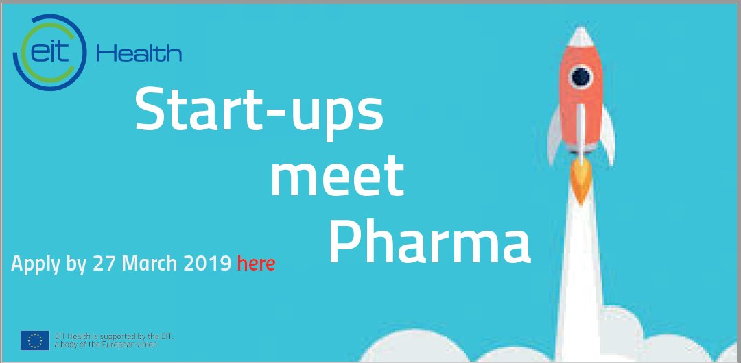 EIT Health Start-ups Meet Pharma Programme 2019
