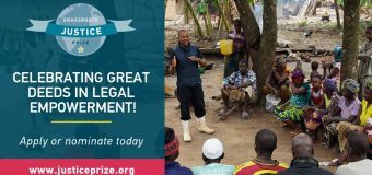 Grassroots Justice Prize Competition 2019 (Win $10,000 and trip to U.N High-Level Political Forum in New York)