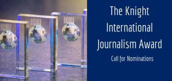 ICFJ Knight International Journalism Awards 2019 (Winners receive a trip to the United States)