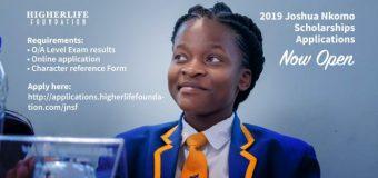 Higherlife Foundation Joshua Nkomo Scholarship 2019