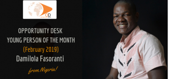 Damilola Fasoranti from Nigeria is OD Young Person of the Month for February 2019!