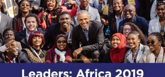 Apply for the Obama Foundation Leaders: Africa Program 2019 (Fully-funded to Johannesburg, South Africa)