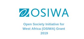 Open Society Initiative for West Africa (OSIWA) Grant 2019