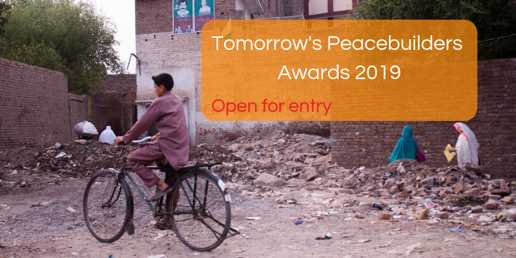 Peace Direct Tomorrow's Peacebuilders Awards 2019 (Fully-funded to PeaceConin Washington, DC + $10,000 Prize)