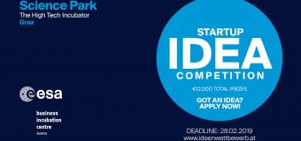 Startup IDEA Competition – Science Park Graz 2019