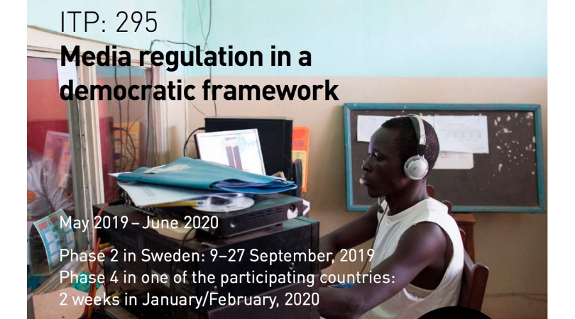 Sida International Training Programme on Self-regulation of Media 2019 for Africa (Fully-funded to Sweden)