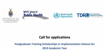 TDR Postgraduate Scholarship in Implementation Research 2019/2020