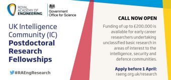UK Intelligence Community (IC) Postdoctoral Research Fellowship Programme 2019 (up to £200,000)