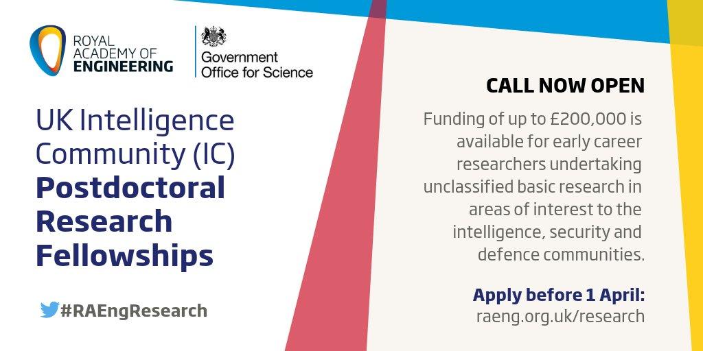UK Intelligence Community (IC) Postdoctoral Research Fellowship
