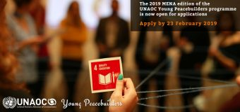 UNAOC Young Peacebuilders in Middle East and North Africa (MENA) Programme 2019 (fully funded)