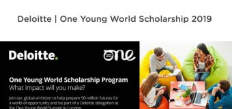 Deloitte One Young World Scholarship Program 2019 (Fully-funded to the OYW Summit in London, UK)