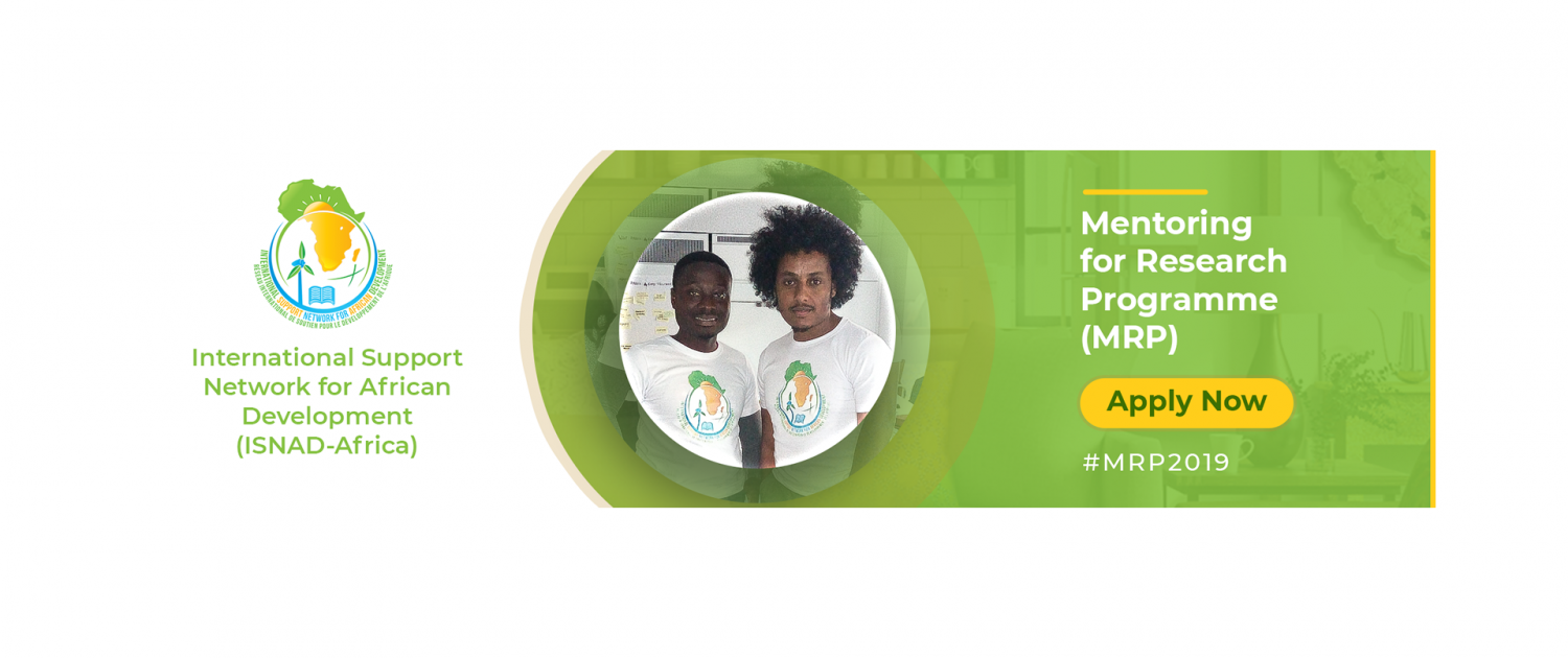ISNAD-Africa Mentoring for Research Programme (MRP) 2019