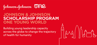 Johnson & Johnson One Young World Scholarship Program 2019 for young health leaders (Fully-funded to OYW Summit in London, UK)