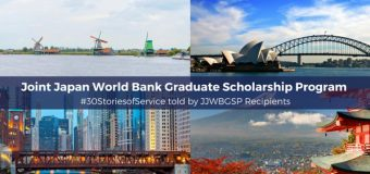 Joint Japan/World Bank Graduate Scholarship Program 2020 for Developing countries (Fully-funded)