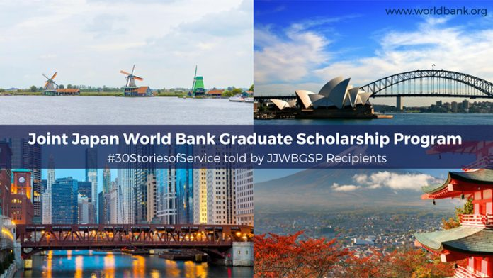 Joint Japan/World Bank Graduate Scholarship Program 2019 for Developing Countries