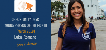 Luisa Romero from Colombia is OD Young Person of the Month for March 2019!