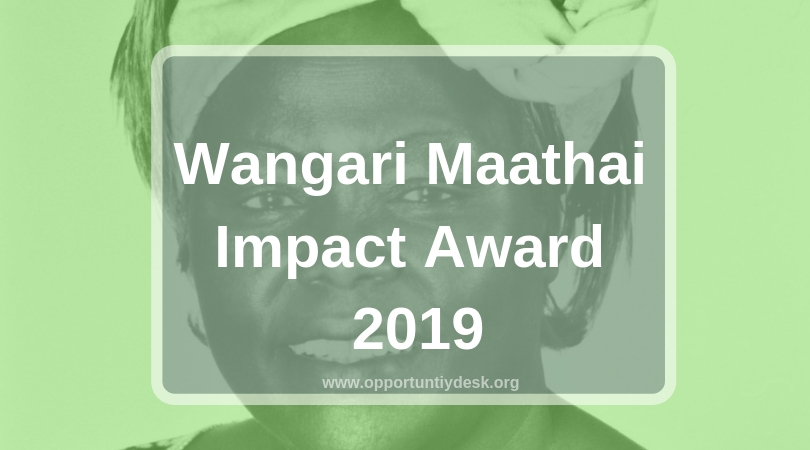 Wangari Maathai ​Impact Award 2019 (Win KES 70,000 prize and fully-sponsored trip to attend NeurIPS 2019)